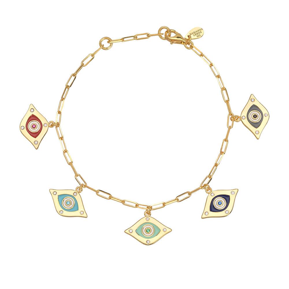 ML065-Enamel-Eyes-Bracelet